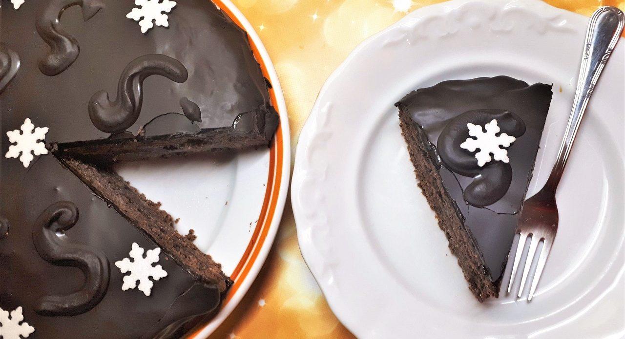 Cukormentes Sacher torta