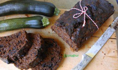 Cukormentes cukkinis sütemény teljes kiőrlésű lisztből